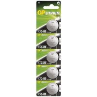GP lithium battery, button cell, CR2430, 5 pcs blister ,capacity 300 mAh, 3 V