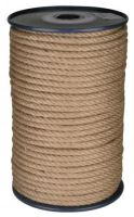 rope twisted ,natural with PP,without core,J-PP, O 14 mm x 100 m, Lanex