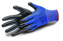 gloves ALLSTAR, with nitrile coating and knit, size 9