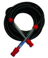 leveling hose, rubber, black, set 2 pcs, plastic pipe, 10 m