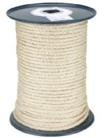 rope twisted ,natural,sisal,without core, O 10 mm x 100 m, Lanex