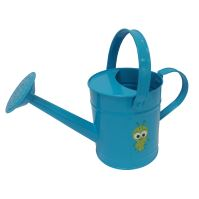 Watering can  , bule  color ,tie card, (pink + ladybug picture ,blue+worm picture)