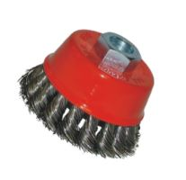 brush steel,type cup,plait,M14, O 120 mm