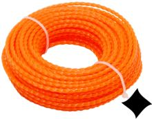 string for trimmer,plastic,spiral cross-section,2,4mmx15m