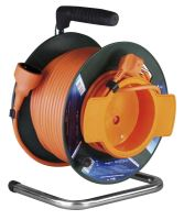 extension cord, orange, on the unwinding drum, clutch, thermal fuse, 50 m ~ 230 V / 16A