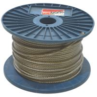 stainless steel rope ,on reel 7 x 7 wires, O 5 mm x 75 m