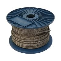 stainless steel rope ,on reel 7 x 7 wires, O 6 mm x 75 m