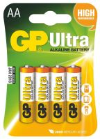 batteries GP Ultra Alkaline, LR6,AA , blister,4 pcs,1,5 V