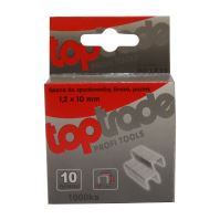 clasp into stapler,galvanized,wide, package 1000 pcs,1,2 x 12 mm