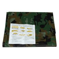 covering tarp,camouflage, with metal eyelets, 4 x 6 m, 80 g