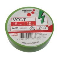 electrical insulating tape, green, 15 mm x 10 m