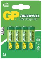 batteries GP  Greencell, Zinc – Chloride R6,AA,blister 4pcs, 1,5 V